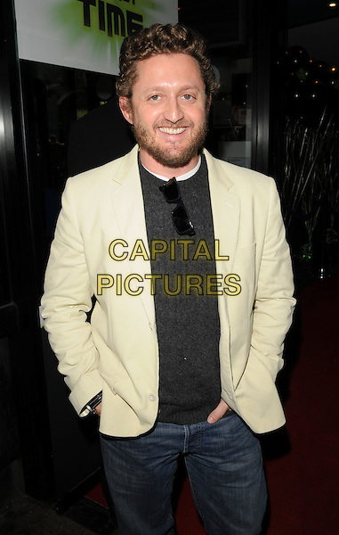 "ALEX WINTERS.""Ben 10: Race Against Time"" UK film premiere, Vue West End, London, England..February 10th, 2008.half length white cream suit jacket beard facial hair grey gray sweater .CAP/CAN.©Can Nguyen/Capital Pictures"
