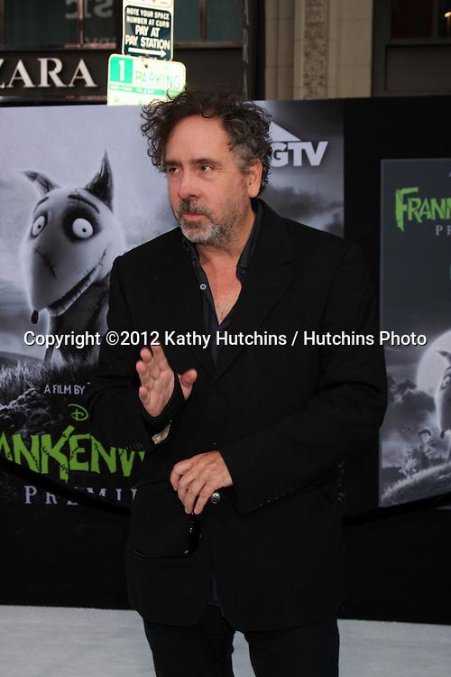 "LOS ANGELES - SEP 24:  Tim Burton arrives at the ""Frankenweenie"" Premiere at El Capitan Theater on September 24, 2012 in Los Angeles, CA"