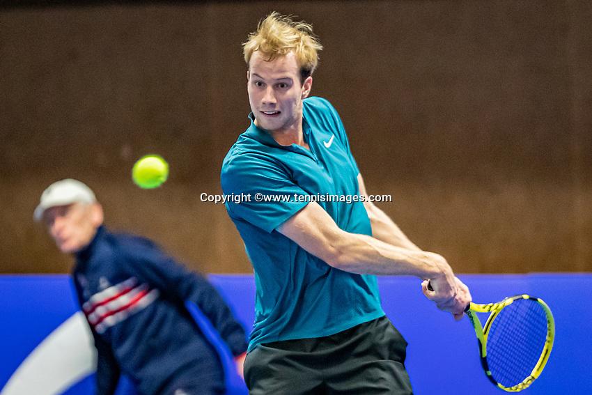 Alphen aan den Rijn, Netherlands, December 21, 2019, TV Nieuwe Sloot,  NK Tennis, Botic van de Zandschulp (NED)<br /> Photo: www.tennisimages.com/Henk Koster