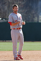Drew Poulk of the North Carolina State Wolfpack in the field during  a game against  the Coastal Carolina University Chanticleers at the Baseball at the Beach Tournament held at BB&T Coastal Field in Myrtle Beach, SC on February 28, 2010.