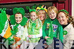 Sophie, Emma Jane, Lorraine, Joshua and Orla McNamara watching the Killarney St Patricks parade on Thursday