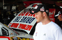 May 1, 2009; Richmond, VA, USA; NASCAR Sprint Cup Series driver Dale Earnhardt Jr during practice for the Russ Friedman 400 at the Richmond International Raceway. Mandatory Credit: Mark J. Rebilas-