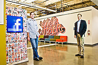 David Fischer and Brad Smallwood pictures: executive portrait photography of Brad Smallwood and David Fischerof Facebook, by San Francisco corporate photographer Eric Millette