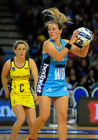 Steel captain Wendy Frew in action during the ANZ Premiership netball match between the Central Pulse and Northern Stars at Te Rauparaha Arena in Wellington, New Zealand on Wednesday, 24 May 2017. Photo: Dave Lintott / lintottphoto.co.nz