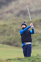 Ben Beaumont (Bangor) on the 12th during Round 2 of the Ulster Boys Championship at Portrush Golf Club, Portrush, Co. Antrim on the Valley course on Wednesday 31st Oct 2018.<br /> Picture:  Thos Caffrey / www.golffile.ie<br /> <br /> All photo usage must carry mandatory copyright credit (&copy; Golffile | Thos Caffrey)