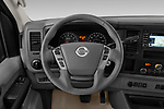 Car pictures of steering wheel view of a 2019 Nissan NV Passenger SL 4 Door Passenger Van