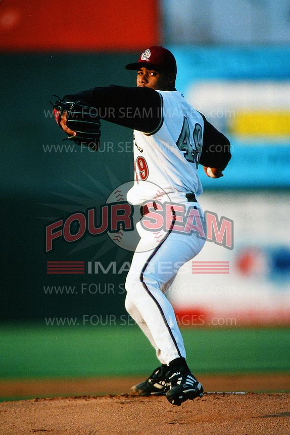 Marcos Castillo of the San Bernardino Stampede during a California League baseball game at The Ranch circa 1999 in San Bernardino,CA. (Larry Goren/Four Seam Images)