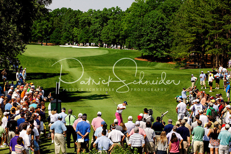 PGA golfer Jonathan Byrd at the Wells Fargo Championship, a PGA championship event held annually in Charlotte NC. The event previously was called The Wachovia Golf Championship. The event is held at the Quail Hollow Club in Charlotte, North Carolina in early May. Since its inception in 2003, the PGA golf championship event has attracted some of the top players on the tour. In 2009, the tournament had a $6.5 million purse with a winner's prize of $1.17 million. The event is often ranked among the PGA Tour's toughest holes. The majority of the charitable proceeds from the tournament benefit Teach for America.