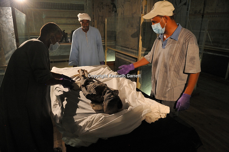 mm7864; 18th Dynasty; New Kingdom; Egypt; KV21; DNA; Sample; Mummy, unknown mummy, Zahi Hawass