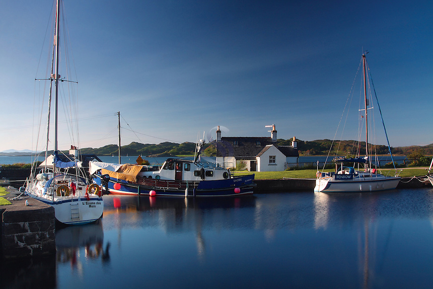 The Crinan Canal at Crinan Basin looking on to the Sound of Jura, Argyll &amp; Bute<br /> <br /> Copyright www.scottishhorizons.co.uk/Keith Fergus 2011 All Rights Reserved