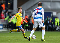 Leeds United's Jamie Shackleton competing with Queens Park Rangers' Luke Freeman<br /> <br /> Photographer Andrew Kearns/CameraSport<br /> <br /> The Emirates FA Cup Third Round - Queens Park Rangers v Leeds United - Sunday 6th January 2019 - Loftus Road - London<br />  <br /> World Copyright &copy; 2019 CameraSport. All rights reserved. 43 Linden Ave. Countesthorpe. Leicester. England. LE8 5PG - Tel: +44 (0) 116 277 4147 - admin@camerasport.com - www.camerasport.com