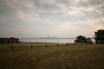Looking across The Mersey from the site of the Tower Athletic Ground in Birkenhead, home to New Brighton Tower FC from 1889-1901, and New Brighton AFC from 1946-1977. The record attendence  of 16,000 was on 5 January 1957 for an FA Cup third round match against Torquay United.