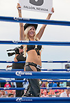 Nugget's Gilley's ring girl during the Rural Rumble on Friday night, August 8, 2014 at Churchill County Fairgrounds in Fallon, Nevada.
