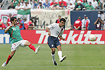24 June 2007:  USA's Jonathan Bornstein (13) and Mexico's Nery Castillo (21). The United States Men's National Team defeated the national team of Mexico 2-1 in the CONCACAF Gold Cup Final at Soldier Field in Chicago, Illinois.