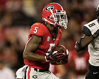 Athens, Georgia - October 6, 2018: Sanford Stadium, the number 2 ranked University of Georgia Bulldogs vs Vanderbilt University Commodores.  Final score Georgia 41, Vanderbilt 13.