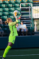 Rochester, NY - Saturday June 11, 2016: Western New York Flash goalkeeper Britt Eckerstrom (28) during a regular season National Women's Soccer League (NWSL) match between the Western New York Flash and the Orlando Pride at Rochester Rhinos Stadium.