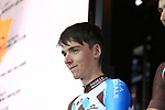 Romain Bardet (FRA) AG2R La Mondiale team on stage at the Team Presentation in Burgplatz Dusseldorf before the 104th edition of the Tour de France 2017, Dusseldorf, Germany. 29th June 2017.<br /> Picture: Eoin Clarke | Cyclefile<br /> <br /> <br /> All photos usage must carry mandatory copyright credit (&copy; Cyclefile | Eoin Clarke)