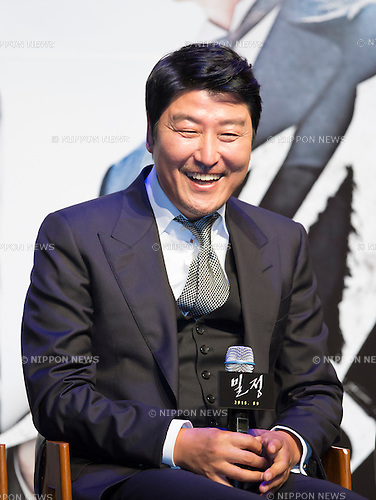 Song Kang-Ho, Aug 4, 2016 : South Korean actor Song Kang-Ho attends a press conference for his new movie, The Age of Shadows, in Seoul, South Korea. The movie is based on the history of the activities of an anti-Japanese armed independence group under the Japanese colonial rule of Korea. (Photo by Lee Jae-Won/AFLO) (SOUTH KOREA)