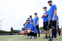 19 September 2012: France Eric Gagne is seen with France players prior to Team France friendly game won 6-3 against Palm Beach State College, during the 2012 World Baseball Classic Qualifier round, in Lake Worth, Florida, USA.