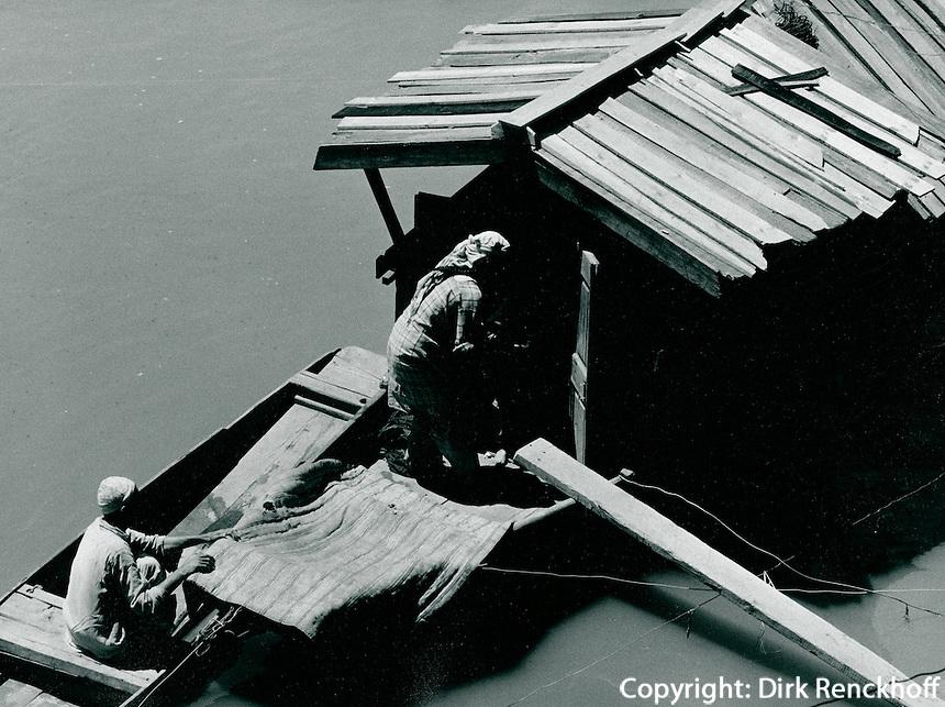 Hausboot in Kaschmir, Indien 1970