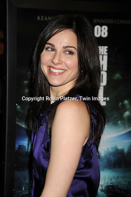 "actress Cara Buono..at The New York Premiere of ""The Day the Earth Stood Still"" on December 9, 2008 at the AMC Loews Lincoln Square. ....Robin Platzer, Twin Images"