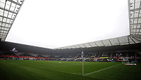 A general view of Liberty Stadium, home of Swansea City<br /> <br /> Photographer Kevin Barnes/CameraSport<br /> <br /> The EFL Sky Bet Championship - Swansea City v Preston North End - Saturday August 11th 2018 - Liberty Stadium - Swansea<br /> <br /> World Copyright &copy; 2018 CameraSport. All rights reserved. 43 Linden Ave. Countesthorpe. Leicester. England. LE8 5PG - Tel: +44 (0) 116 277 4147 - admin@camerasport.com - www.camerasport.com