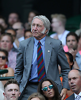 Former Wales rugby player JPR Williams in the Royal box on Centre Court <br /> <br /> Photographer Rob Newell/CameraSport<br /> <br /> Wimbledon Lawn Tennis Championships - Day 6 - Saturday 7th July 2018 -  All England Lawn Tennis and Croquet Club - Wimbledon - London - England<br /> <br /> World Copyright &not;&copy; 2017 CameraSport. All rights reserved. 43 Linden Ave. Countesthorpe. Leicester. England. LE8 5PG - Tel: +44 (0) 116 277 4147 - admin@camerasport.com - www.camerasport.com