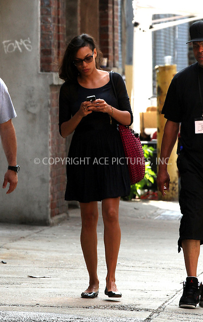 WWW.ACEPIXS.COM<br /> <br /> July 10 2013, New York City<br /> <br /> Actress Rosario Dawson on the set of her new movie on July 10 2013 in New York City<br /> <br /> By Line: Zelig Shaul/ACE Pictures<br /> <br /> <br /> ACE Pictures, Inc.<br /> tel: 646 769 0430<br /> Email: info@acepixs.com<br /> www.acepixs.com