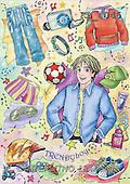 Interlitho, Dani, TEENAGERS, paintings, trendy boy(KL4046,#J#) Jugendliche, jóvenes, illustrations, pinturas ,everyday