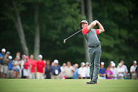 Rory McIIroy hits his approach into the 10th green during the opening round of the PGA Championship at Valhalla (Photo: Anthony Powter) Picture: Anthony Powter / www.golffile.ie