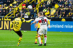 09.03.2019, Signal Iduna Park, Dortmund, GER, 1.FBL, Borussia Dortmund vs VfB Stuttgart, DFL REGULATIONS PROHIBIT ANY USE OF PHOTOGRAPHS AS IMAGE SEQUENCES AND/OR QUASI-VIDEO<br /> <br /> im Bild   picture shows:<br /> Christian Pulisic (Borussia Dortmund #22) mit Santiago Ascacibar (VfB Stuttgart #6), <br /> <br /> Foto &copy; nordphoto / Rauch