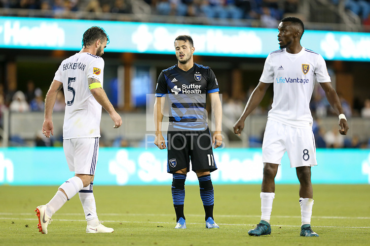 San Jose, CA - Saturday July 28, 2018: Vako during a Major League Soccer (MLS) match between the San Jose Earthquakes and Real Salt Lake at Avaya Stadium.