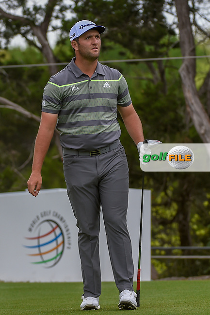 Jon Rahm (ESP) watches his tee shot on 2 during day 3 of the WGC Dell Match Play, at the Austin Country Club, Austin, Texas, USA. 3/29/2019.<br /> Picture: Golffile   Ken Murray<br /> <br /> <br /> All photo usage must carry mandatory copyright credit (© Golffile   Ken Murray)