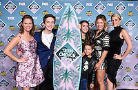 Andrea Barber + Michael Campion + Soni Nicole Bringas + Elias Harger + Candace Cameron-Bure + Jodie Sweetin @ the 2016 Teen choice awards held @ the Forum.<br /> July 31, 2016