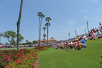 A huge crowd is gathered around the third tee during round 1 of The Players Championship, TPC Sawgrass, at Ponte Vedra, Florida, USA. 5/10/2018.<br /> Picture: Golffile | Ken Murray<br /> <br /> <br /> All photo usage must carry mandatory copyright credit (&copy; Golffile | Ken Murray)