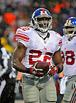 23 December 2007: New York Giants running back Reuben Droughns in action against the Buffalo Bills at Ralph Wilson Stadium in Orchard Park, NY. The Giants defeated the Bills 38-21. ..Mandatory Photo Credit: Ed Wolfstein Photo