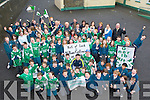 Milltown/Castlemaine footballer's Mike Burke and Stephen received a heroes welcome from the children Milltown National school when they called in on Tuesday after their victory in the All Ireland Intermediate semi-final in Portlaoise on Sunday ........