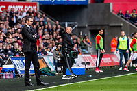Sunday April 02 2017 <br /> Pictured: Manager of Swansea City, Paul Clement looks on <br /> Re: Premier League match between Swansea City and Middlesbrough at The Liberty Stadium, Swansea, Wales, UK. SUnday 02 April 2017