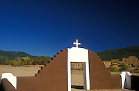 USA, New Mexico, Taos Pueblo, entrance to San Geronimo Chapel..