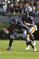 03 November 2007:  Branden Albert (71)..The Virginia Cavaliers defeated the Wake Forest Demon Deacons  17-16 November 3, 2007 at Scott Stadium in Charlottesville, VA..