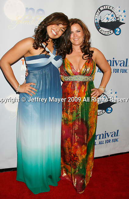"SAN PEDRO, CA. - March 26: Jordin Sparks and mom Jodi Sparks arrive at the ""One Splendid Evening"" sponsored by Carnival Cruise Lines and benefiting VH1 Save The Music held on the Carnival Splendor at Port Of Los Angeles on March 26, 2009 in San Pedro, California."