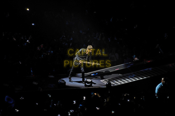 LONDON, ENGLAND - APRIL 3: Matt Bellamy of 'Muse' performing at the O2 Arena on April 3, 2016 in London, England.<br /> * Press use only. No merchandising *<br /> CAP/MAR<br /> &copy;MAR/Capital Pictures