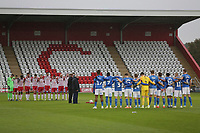 One minute silence during Stevenage vs Peterborough United, Emirates FA Cup Football at the Lamex Stadium on 9th November 2019