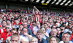 Sheffield Utd fans during the English Championship League match at Bramall Lane Stadium, Sheffield. Picture date: August 5th 2017. Pic credit should read: Simon Bellis/Sportimage