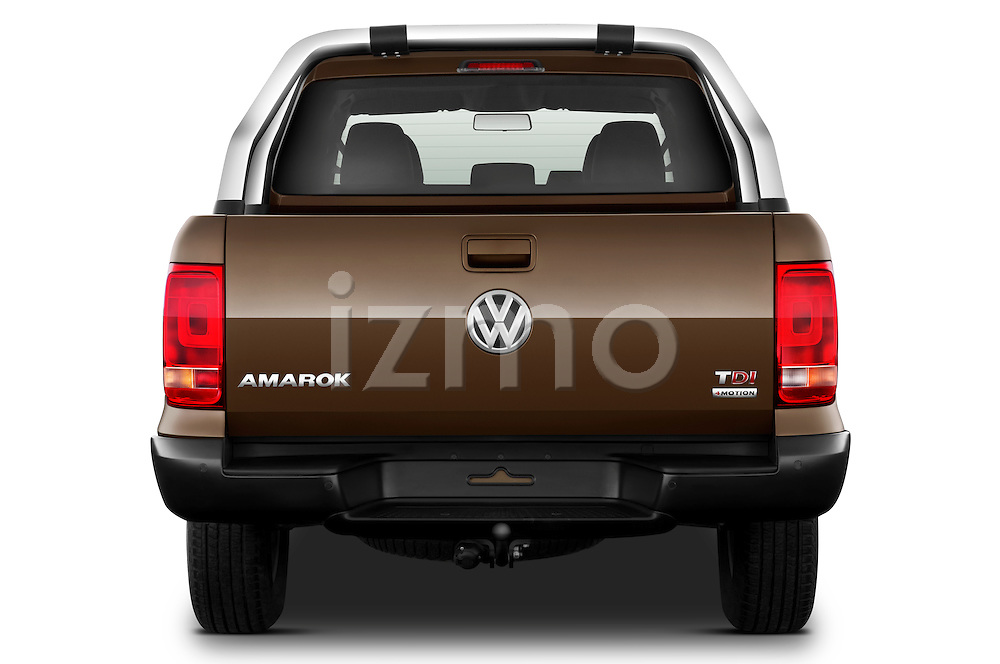 Straight rear view of a 2012 Volkswagen Amarok Trendline Truck
