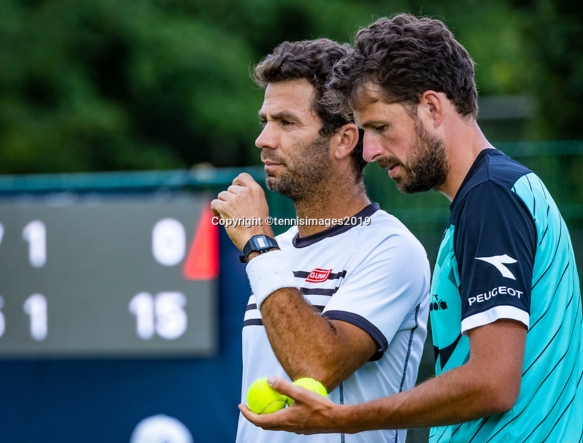 Rosmalen, Netherlands, 13 June, 2019, Tennis, Libema Open, Mens doubles: Jean Julien Rojer (NED) and Robin Haase (NED) (R)<br /> Photo: Henk Koster/tennisimages.com