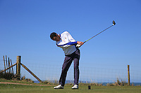 Ryan Fricker during Round Two of the West of England Championship 2016, at Royal North Devon Golf Club, Westward Ho!, Devon  23/04/2016. Picture: Golffile | David Lloyd<br /> <br /> All photos usage must carry mandatory copyright credit (&copy; Golffile | David Lloyd)