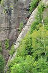 Chapel Lake cliffs. Adirondack National Park. Rock climbing..