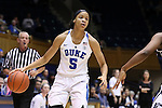 15 November 2016: Duke's Leaonna Odom. The Duke University Blue Devils hosted the Longwood University Lancers at Cameron Indoor Stadium in Durham, North Carolina in a 2016-17 NCAA Division I Women's Basketball game. Duke won the game 105-48.