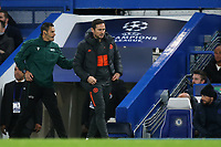 Chelsea Manager, Frank Lampard, walks away after exchanging words with fourth official, Maurizio Mariani during Chelsea vs AFC Ajax, UEFA Champions League Football at Stamford Bridge on 5th November 2019